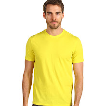 Vince - Short Sleeve Crew Neck (Electric Yellow) - Apparel