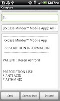 Screenshot of RxCase Minder®