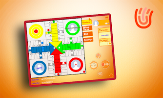 Screenshot of Ludo, turn based online game