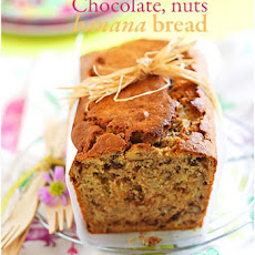 Nuts, Chocolate and Banana Bread
