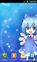 Screenshot of Touhou Cirno LWP