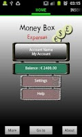 Screenshot of Money Box Expenses