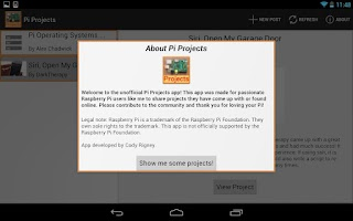 Screenshot of Pi Projects