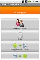 Screenshot of Contacts2SIM Pro