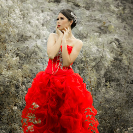 red dress by Albertus Tatang - People Portraits of Women