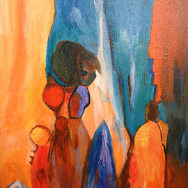 The pilgrimage by Shelina Khimji - Painting All Painting ( acrylic, semiabstract, painting )