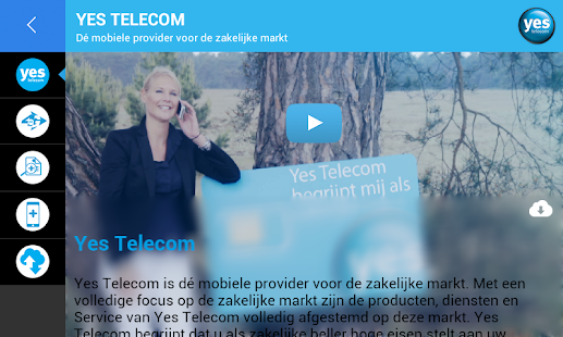 Yes Telecom - screenshot