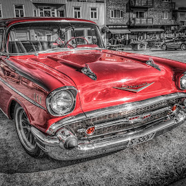 Askim, Norway by IP Maesstro - Transportation Automobiles ( selective colors, hdr, norge, maesstro, askim, norway, selective color, pwc )