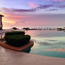 Dawn in Cancun by Jëff Mürray - Travel Locations Air Travel ( vacation, pool, sunrise )