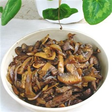 Lamb's Liver with Wild Mushrooms in Madeira