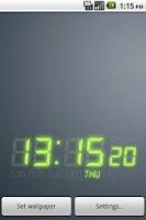 Screenshot of DIGI-CLOCK LiveWallpaper