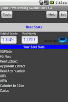 Screenshot of Beer Stats and Conversions
