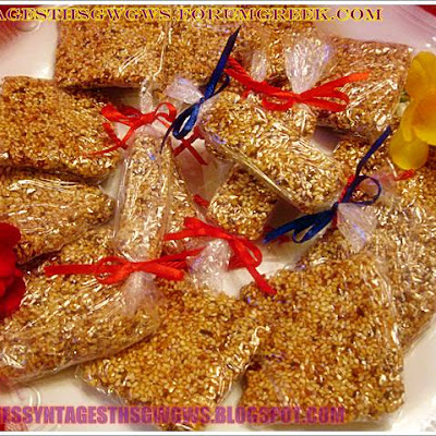 HOMEMADE SESAME BAR (GREEK PASTELI )