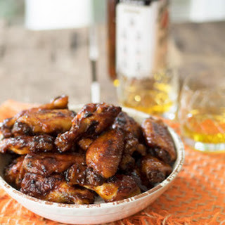 Baked Bourbon Maple Chicken Wings