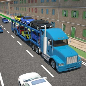 3D Car transport trailer truck