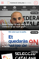 Screenshot of Federació Catalana Futbol FCF