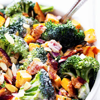 Creamy Broccoli Cheddar Bacon Salad