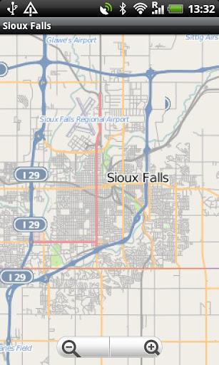 Sioux Falls Street Map