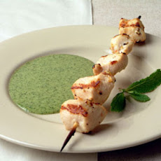 Chicken Skewers with Mint Sauce