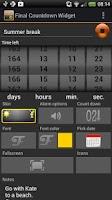 Screenshot of Final Countdown Widget 2