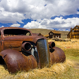 Lost Generation by Tom DiMatteo - Landscapes Travel ( clouds, car, bodie, town, rusty, ghost, rust )