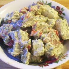 Roasted Red Pepper Potato Salad (Vegan)