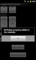 Screenshot of Happy Birthday To Calendar