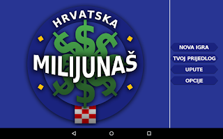 Screenshot of Milijunaš Hrvatska