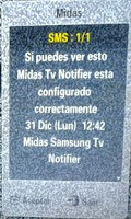 Screenshot of Midas Samsung Tv Notifier