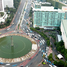 Bundaran HI Jakarta by Max Bowen - City,  Street & Park  Historic Districts