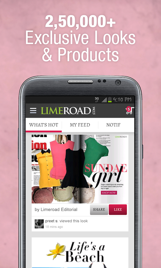 LimeRoad - Online Shopping Screenshot 1