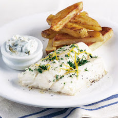 Healthy Fish & Chips With Tartare Sauce