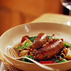 Black-Eyed Peas with Escarole, Potatoes, and Turkey Sausage