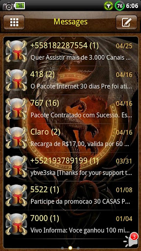 Dragon GO SMS Theme