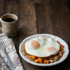 Sweet Potatoes, Wheat Berries, and Eggs
