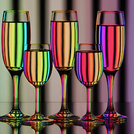 Color Streaks #3 by Rakesh Syal - Artistic Objects Glass