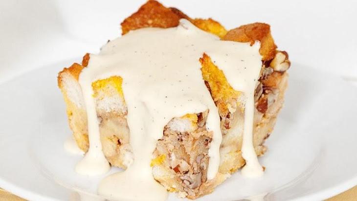 Bourbon Pumpkin Bread Pudding with Bourbon Sauce Recipe | Yummly