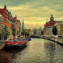 Amsterdam Canal by Darlis Herumurti - City,  Street & Park  Historic Districts