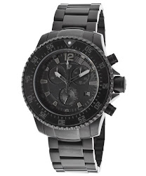 Swiss Legend Men's Sergeant Chronograph Black Dial Black IP Stainless Steel