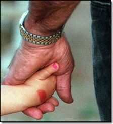 -    -09-04-2000, A1  Bill Bryner and his granddaughter, Makenzie, hold hands as they walk to see some turkeys Thursday. Bryner drops his two older granddaughters off at school twice a week to help out his son, Greg, and daughter-in-law, Wendy.  (PC)-    -Bill Bryner and his 3-year-old granddaughter, Makenzie, holds hands as they walk to see some turkeys Thursday August 25, 2000. Bryner drops his two older granddaughters off at school twice a week to help out his son, Greg, and dughter-in-law, Wendy.