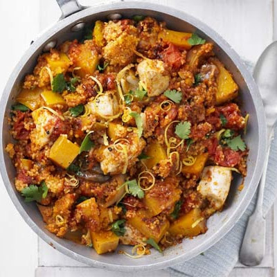 Squash, Chicken & Couscous One-pot