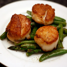 Dinner Tonight: Scallops with Asparagus and Sugar Snap Peas