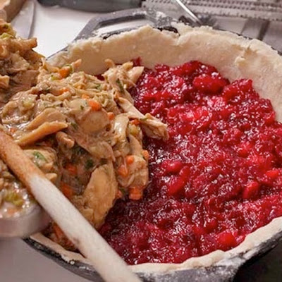 Turkey and Cranberry Pie