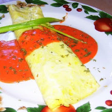 Chorizo  Omelet With Chipotle Cream Sauce