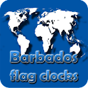Barbados flag clocks icon