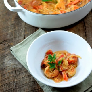 Tomato and Tiger Shrimp Soup