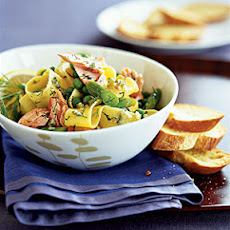 Pappardelle With Asparagus and Salmon