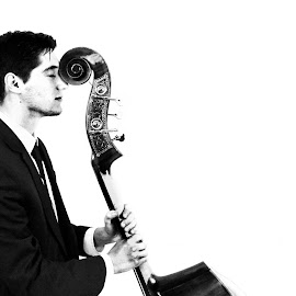 Dat Bass by Erin Baker - People Portraits of Men ( black and white, male, portrait,  )