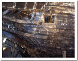 A hajó orra a múzeumon belül