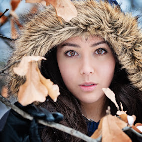 In The Snow by Michiyo Clark - People Portraits of Women ( girl, winter, d700, cold, 2.8, 70-200, woman, beautiful, snow, beauty, nikon )